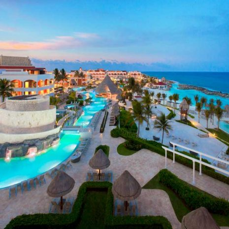 Hard-Rock-Riviera-Maya-Wedding-Aerial-view-of-Pool